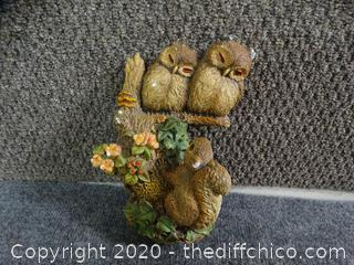 Owl  and Squirrel  Bosson Made In England