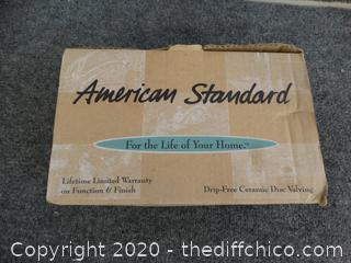 American Standard  Hampton  Centerset Lavatory Cast Brass With metal Lever Handles