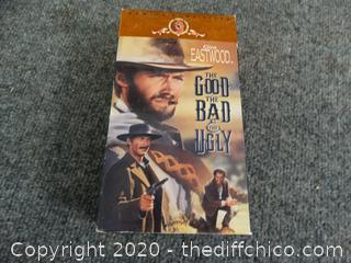 Clint Eastwood VHS  The Good The Bad And The Ugly
