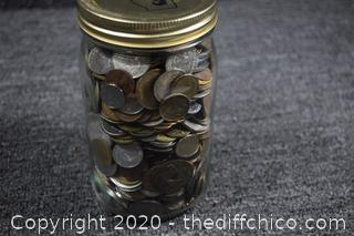 Jar of Foreign Coins - Face value over $50