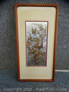 The Butterfly and The Camellia Certified  frame 20'------10 1/2""