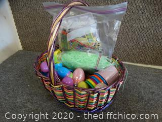 Easter Basket With Contents