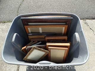 Tub Of Picture Frames all sizes