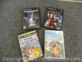 PS2 & Game Cube, Wii Games