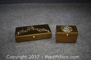 2 Vintage Jewelry Boxes