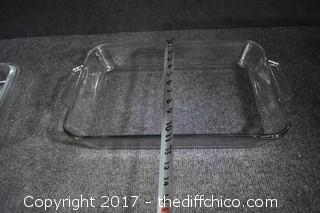 3 Clear Glass Bakeware