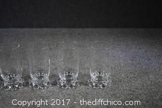 5 Candlewick Juice Glasses