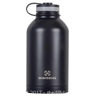 Winterial 64 OZ Insulated Black Growler
