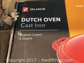 Zelancio 6 Quart Dutch Oven - Red