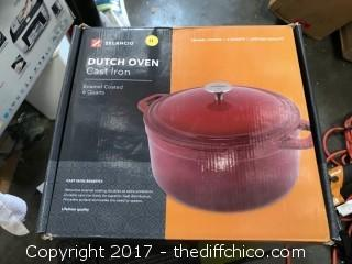 Zelancio 6 Quart Dutch Oven - Red
