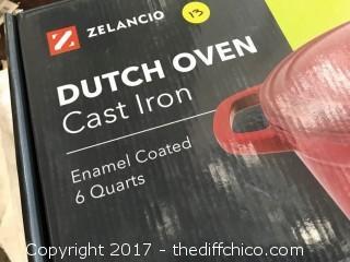 Zelancio 6 Quart Dutch Oven - Red Oval