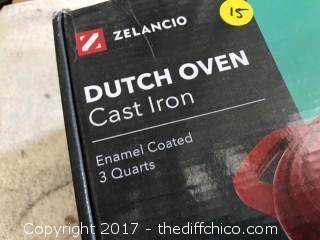 Zelancio 3 Quart Dutch Oven - Teal