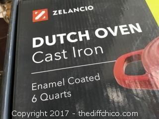 Zelancio 6 Quart Dutch Oven - Orange Oval