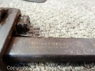 Model T Car Jack and Vintage Pipe Wrench