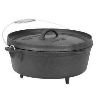 Winterial Cast Iron Camping Dutch Oven
