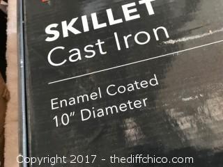 "Zelancio 10"" Cast Iron Skillet - Red"