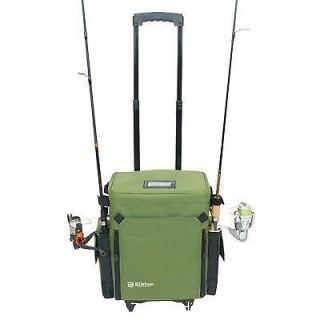 Elkton Outdoors Rolling Tackle Box w/ Removable Trays
