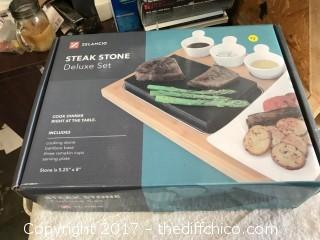 Zelancio Steak Stone Deluxe Set