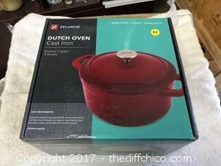Zelancio Cast Iron 3 Quart Dutch Oven