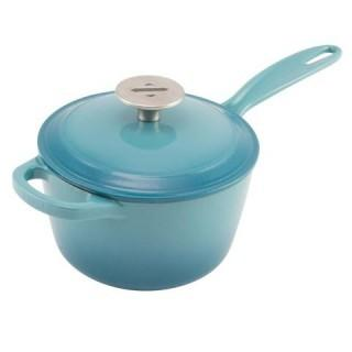 Zelancio Cast Iron 2 Quart Sauce Pot - Teal