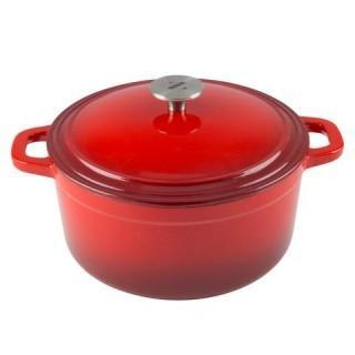 Zelancio Cast Iron 6 Quart Dutch Oven - Red