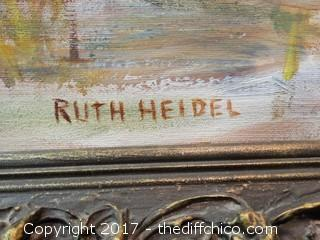 Original Signed Oil On Canvas