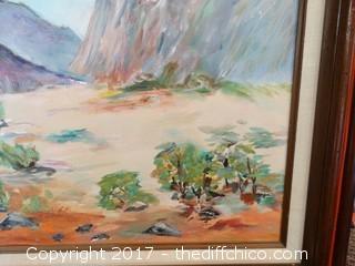 "Original Oil On Canvas Desert Picture W-31"" T-25"""