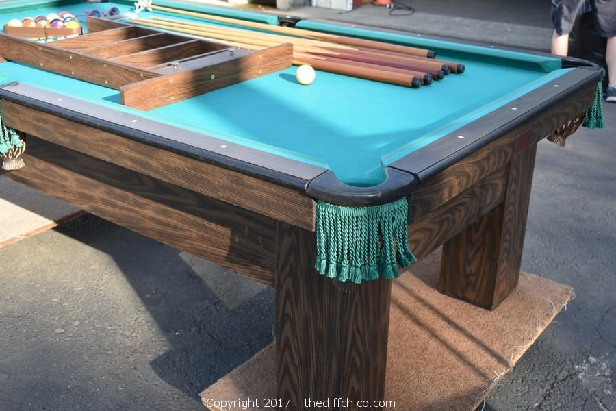 The Difference Auction Sept Art Furniture Collectible - Delmo pool table