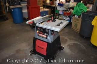 Working Craftsman 10in Table Saw w/Cover