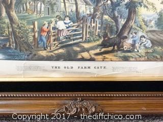 1900's Framed Print Currier Ives