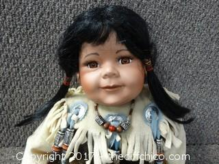 Native American Porcelain Doll