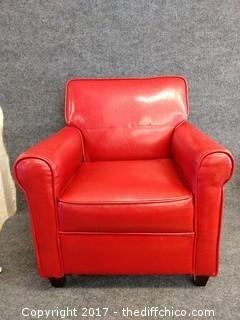 """Leather Children's Chair - Red - 24"""" Tall"""