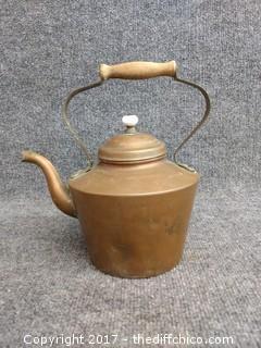 "Copper Tea Kettle - Made in Portugal - 10"" - Vintage"