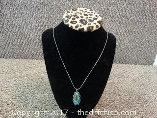 Turquoise Pendent with Chain