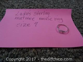Sterling Matinee Movie Ring Size 7