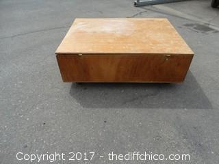 Wooden Rolling Storage