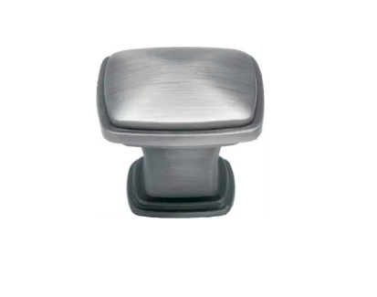 Jamison Collection J336 SP Satin Pewter 1 1/4 Inch Square Cabinet Knobs
