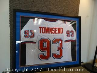 #93 Greg Townsend Autographed Pro Ball Jersey Framed