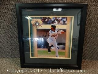 #33 Nick Swisher Autographed Framed Picture
