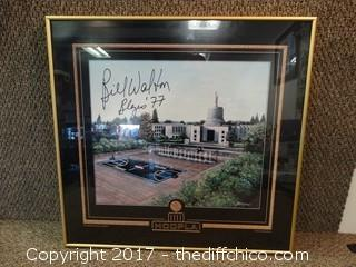 Bill Walton Autographed Poster 23x22 Framed