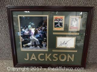 Reggie Jackson Autographed and Card