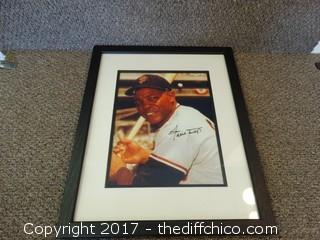 24 Willie Mays Autographed Framed Picture
