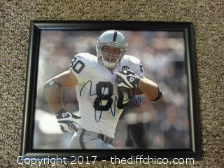 #80 Signed Raiders Picture