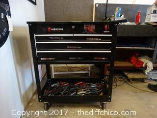 Rolling Black Tool Box With Tools