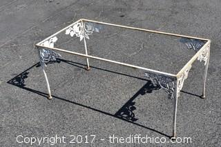 Metal Patio Table - No Glass Top