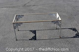 Metal Patio Table - No Glass Top