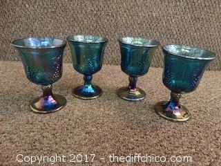 4 Carnival Class Goblets
