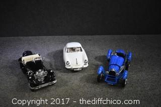 3 Collectible Cars