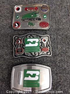 Burlington Northern Railroad Belt Buckles