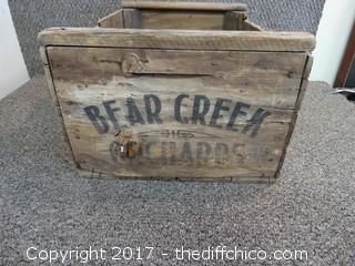 "Bear Creek Wood Crate T-15"" W-20"" D-10"""
